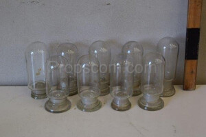 Flasks for chemical laboratory empty