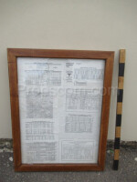 Glazed notice board
