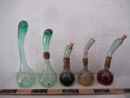 Green glass flask