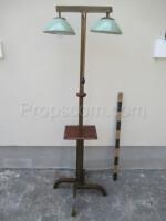 Double lamp wood glass