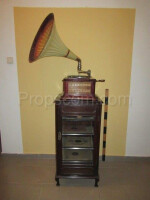 Old gramophone with cabinet
