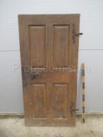 wooden right door