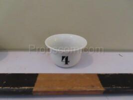 Porcelain sample bowls