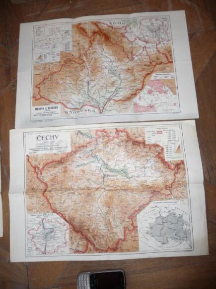 Map of Bohemia, Moravia and Silesia