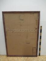 Fibreboard notice board