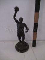 Metal basketball trophy