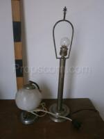 Lamp with chrome milk glass lamp