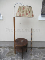 Lamp with side table