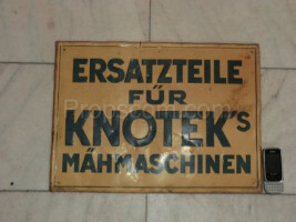 German advertising sign Spare parts