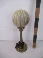 Lamp brass glass ball marbling