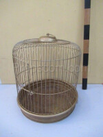 Small round brass cage