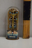 Flask with a religious motif