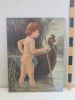 Boy by the pond
