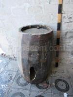Wooden barrel broken
