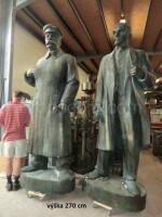 Statues of Vladimir Ilyich Lenin and Joseph Vissarionovich Stalin