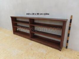 Low dark bookcase