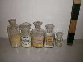 Different medicine bottles mix