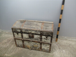 Forged wooden chest