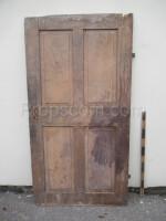 wooden door brown right