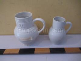 White ceramic jugs