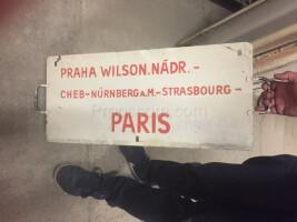 information sign: Prague Wilsonovo nádraží - Paris