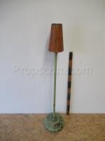 Lamp metal green brown