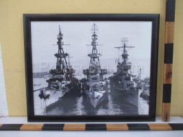 An image of three battleships
