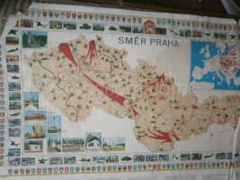 School poster - map of Czechoslovakia