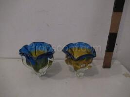 Metallurgical glass bowls