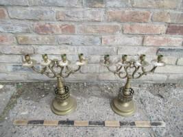Four-armed brass candlesticks