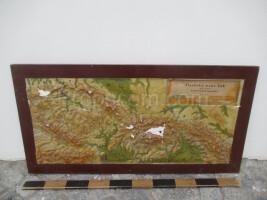 Plastic map of the Czechoslovak Socialist Republic