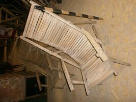 wooden folding deck chair