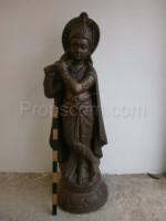 Orient wooden statue