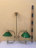 Chandelier brass sheet green