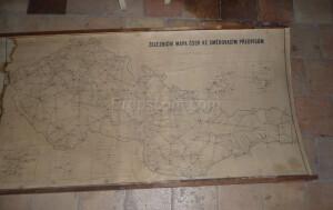 Railway map of Czechoslovakia