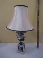 Lamp blue porcelain fabric