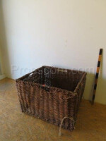 Square wicker basket