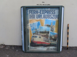 Hanging information display case
