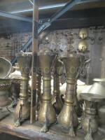 brass candlesticks decorated
