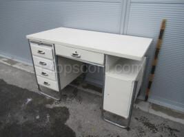 White chrome desk