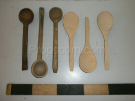 Wooden spoons and spoons