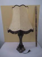 Lamp massive brass fabric