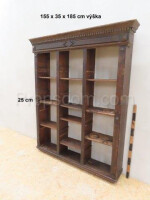 Solid dark bookcase