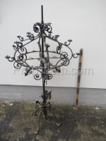 Forged decorated candlestick